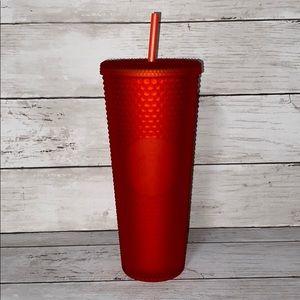 Starbucks red studded soft touch tumbler